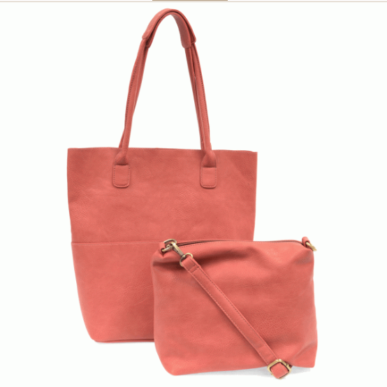 Kelly North South Front Pocket Tote - Coral