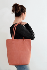 Joy Susan Kelly North South Front Pocket Tote - Coral