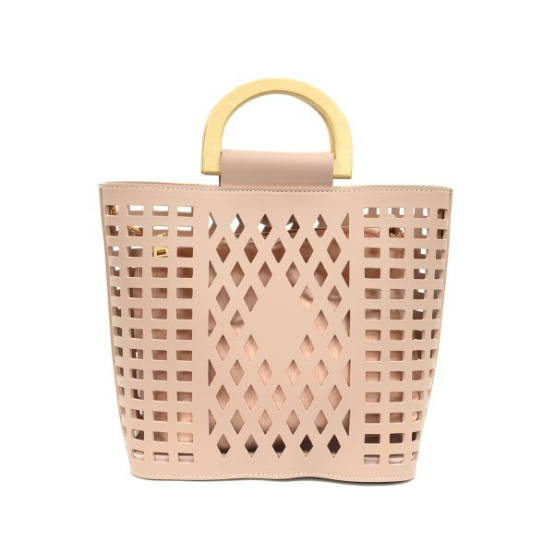 Madison Cut Out Tote - Light Pink