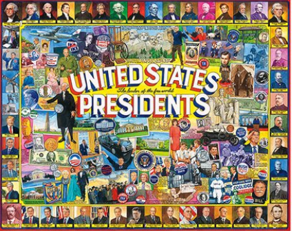 White Mountain Puzzle 1000 Piece United States Presidents Puzzle
