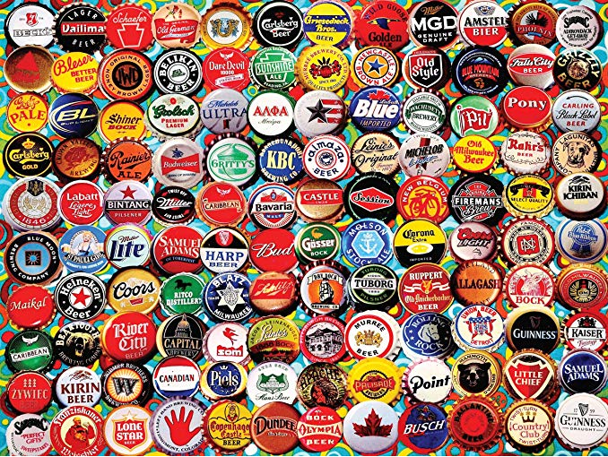 White Mountain Puzzle Beer Caps