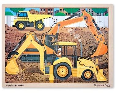 Melissa & Doug Construction Jigsaw (24PC)