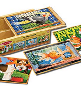 Melissa & Doug Puzzles in a Box- Pets