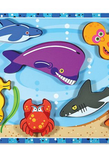 Melissa & Doug Chunky Puzzle- Sea Creatures