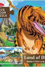 Melissa & Doug Floor Puzzle (48pc)- Land of Dinosaurs