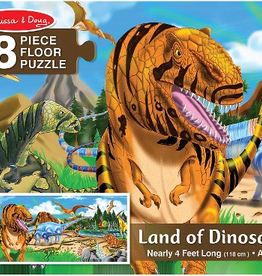 Melissa & Doug Floor Puzzle (48pc)- Land of Dinosaurs