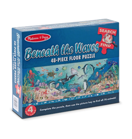 Melissa & Doug Floor Puzzle (48pc)- Beneath the Waves, Search & Find