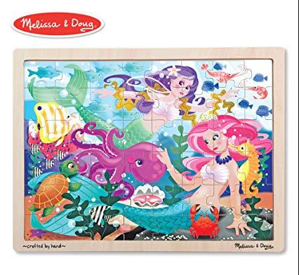 Melissa & Doug Jigsaw Puzzle (48pc)- Mermaid Fantasea
