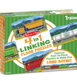 Melissa & Doug TRAINS LINKING FLOOR PUZZLE (96PC)