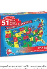 Melissa & Doug Floor Puzzle (51pc)- U.S.A. Map