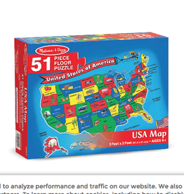 Melissa & Doug Floor Puzzle (51pc)- U.S.A. Map