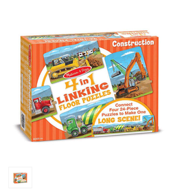 Melissa & Doug CONSTRUCTION LINKING FLR PZZLE (96PC)