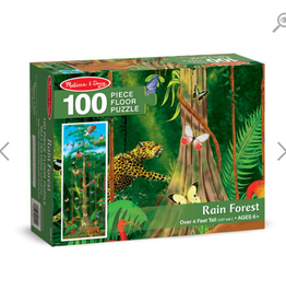 Melissa & Doug Floor Puzzle (100pc)- Rain Forest