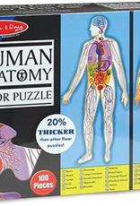 Melissa & Doug Floor Puzzle (100pc)- Human Body