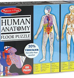 Melissa & Doug Floor Puzzle (100pc)- Human Body