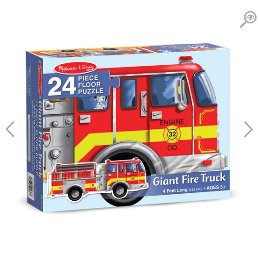 Melissa & Doug Floor Puzzle (24pc)- Giant Fire Truck