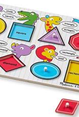 Melissa & Doug Peg Puzzle- See Inside Shapes