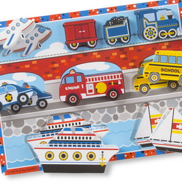 Melissa & Doug Chunky Puzzle- Vehicles