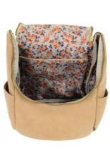 Kerri Side Pocket Backpack - Camel