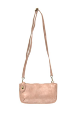 Lustre Lux Crossbody Wristlet Clutch - Blush