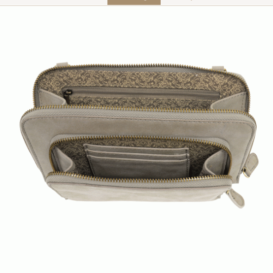 Brushed Mini Convertible Zip Wristlet - Mist