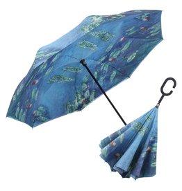 Umbrella - Reverse Open - Monet Water Lilies