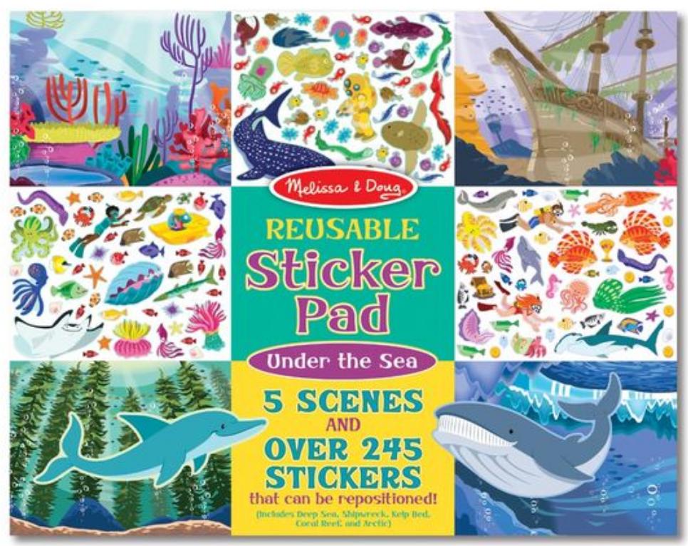 Melissa & Doug Reusable Sticker Pad - Under the Sea