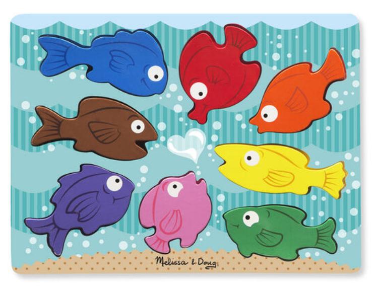 Melissa & Doug Colorful Fish Chunky Puzzle