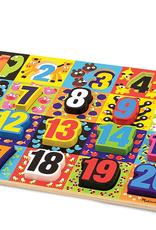 Melissa & Doug Chunky Puzzle- Jumbo Numbers