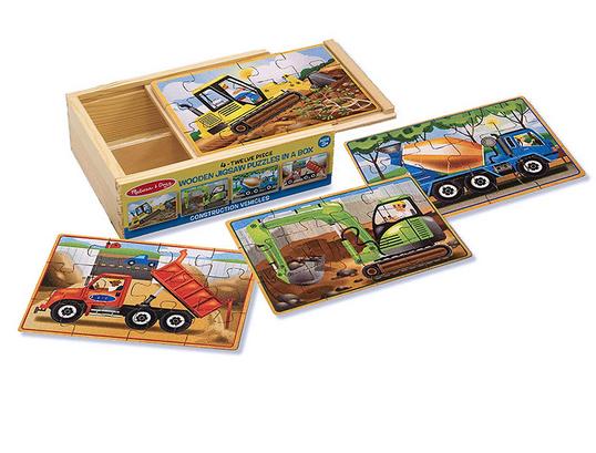 Melissa & Doug Puzzles in a Box- Construction