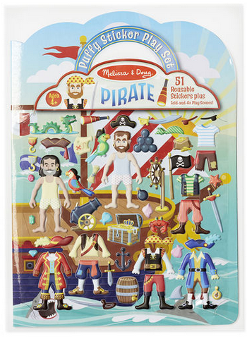 Melissa & Doug Puffy Sticker Play Set-Pirate