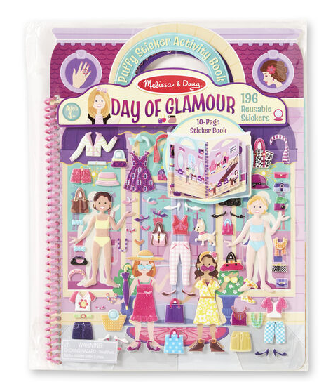 Melissa & Doug Deluxe Puffy Sticker Album-Day of Glamour