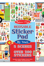 Melissa & Doug Reusable Sticker Pad-My Town