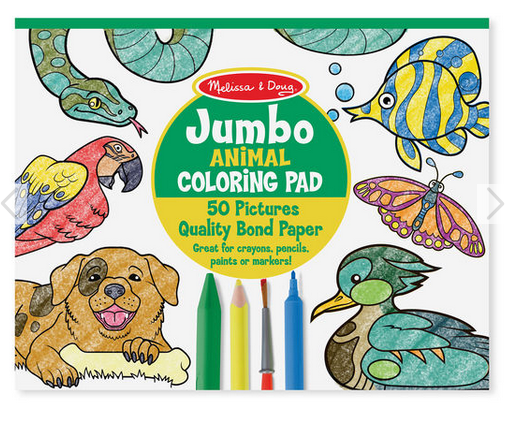 "Melissa & Doug Jumbo Coloring Pad-Blue,(11""x 14"")"