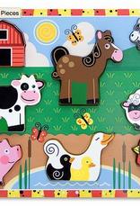 Melissa & Doug Chunky Puzzle- Farm