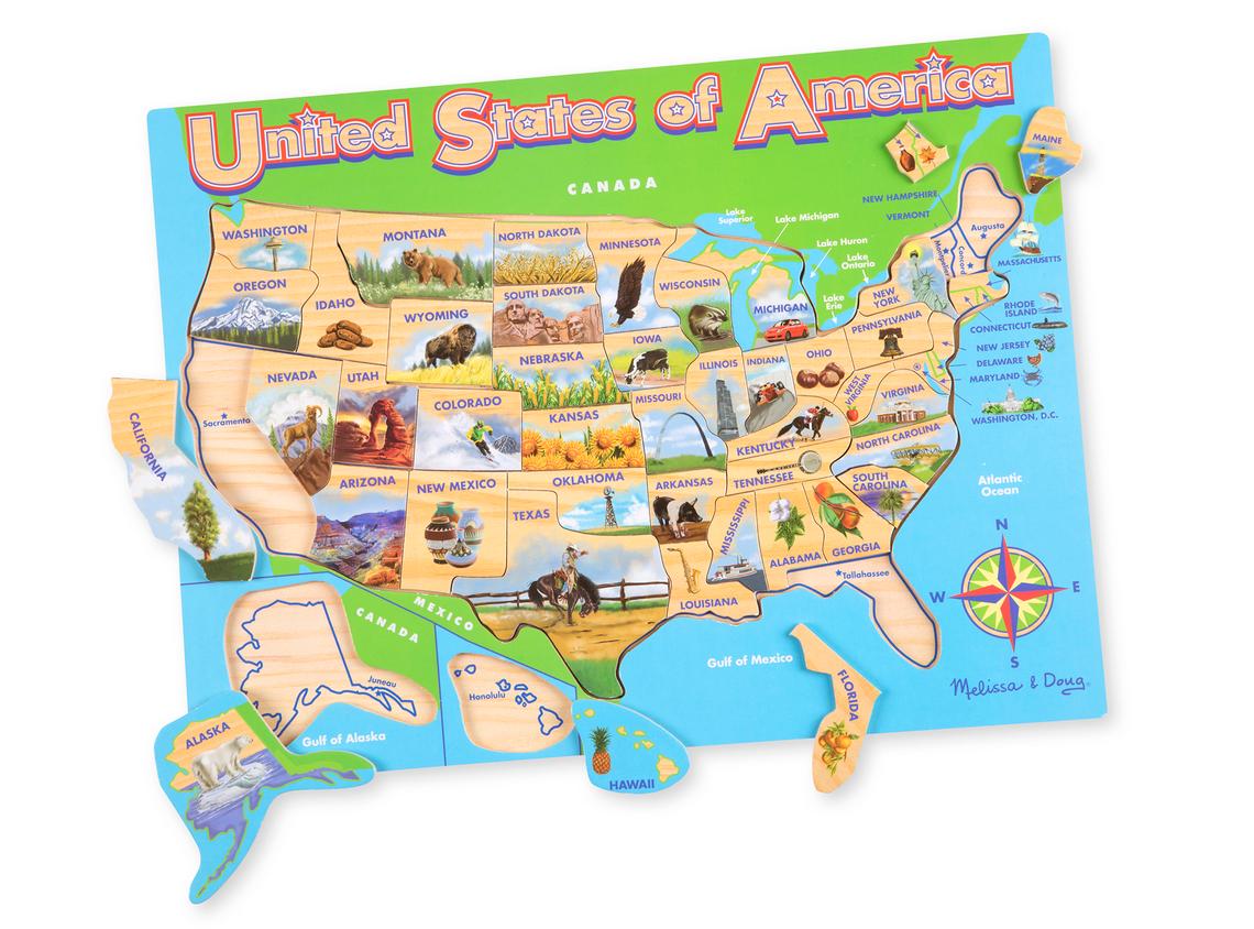 Melissa & Doug USA MAP JIGSAW