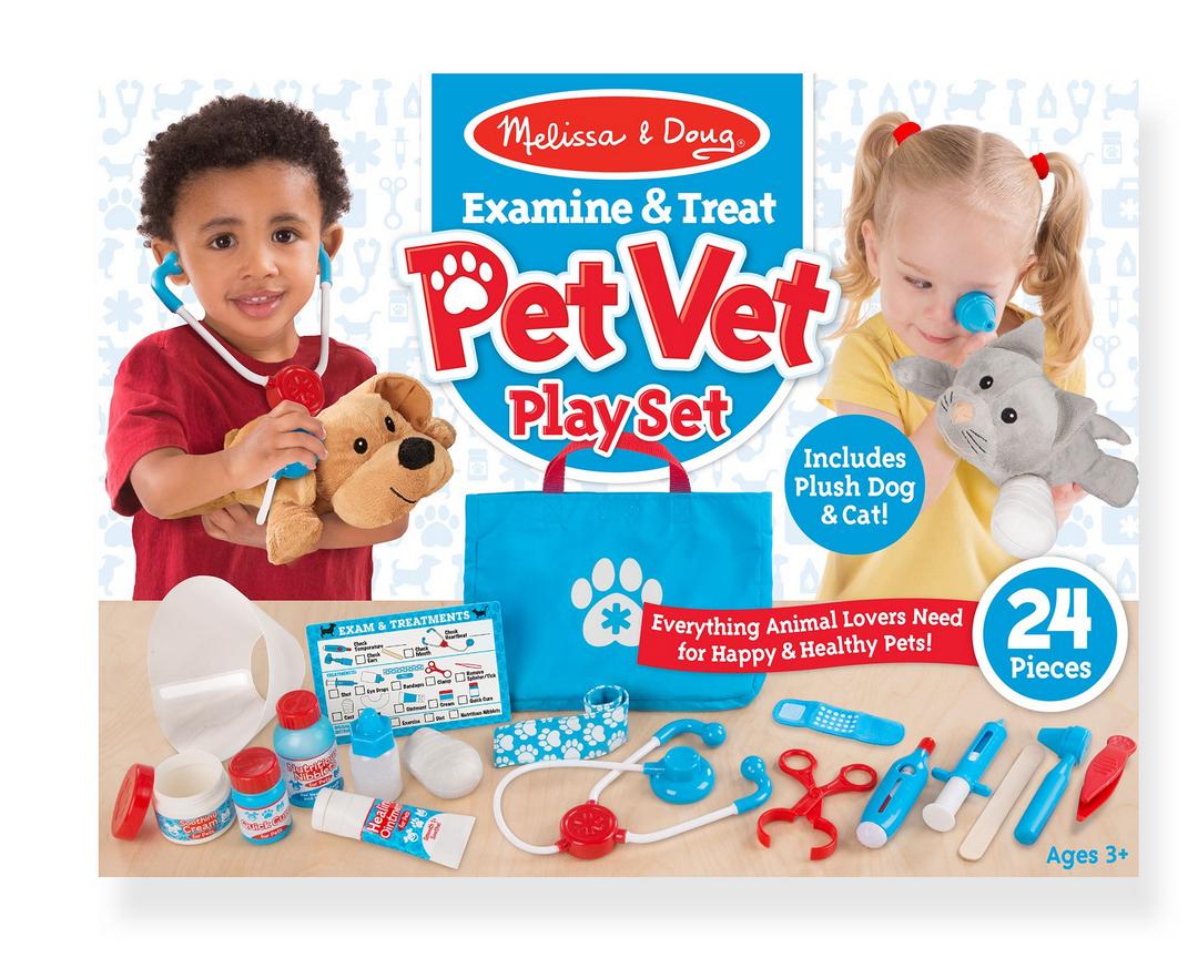 Melissa & Doug Examine & Treat Pet Vet Play Set