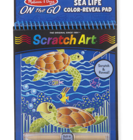 Melissa & Doug Sealife Color Reveal Scratch Art