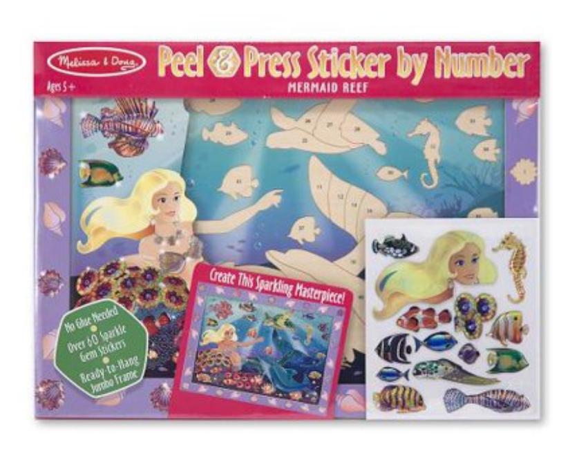 Melissa & Doug Peel & Press SbN-Mermaid Reef