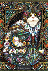 White Mountain Puzzle Jeweled Cat - 1000 piece