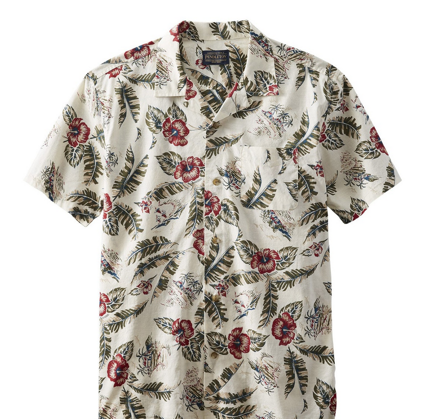 Pendleton Short Sleeved Aloha Printed Shirt