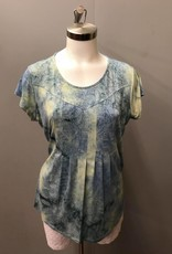 SOUTHERN LADY Cap Sleeve Laticia Print Top