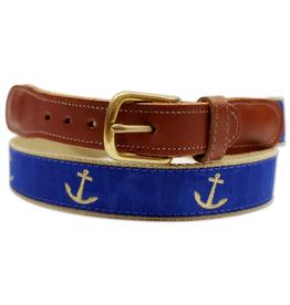 Blue Nautical Anchor / Belt