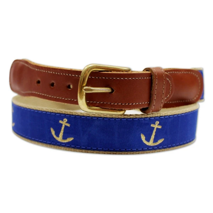Blue Nautical Anchor / Belt