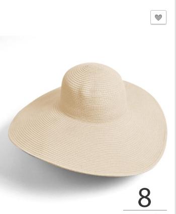 Womens Brim Floppy Hat - Sand