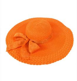 Womens 6in Brim Floppy Hat - Orange