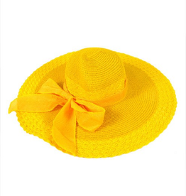 Womens 6in Brim Floppy Hat - Yellow