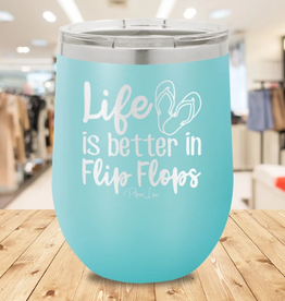 Piper Lou Life is Better in Flip Flops Stemless Wine Cup