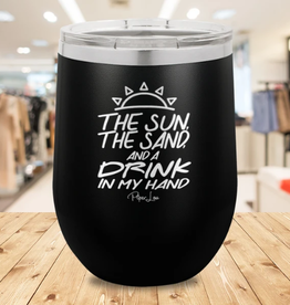 Piper Lou The Sun The Sand Drink in Hand Stemless Wine Cup