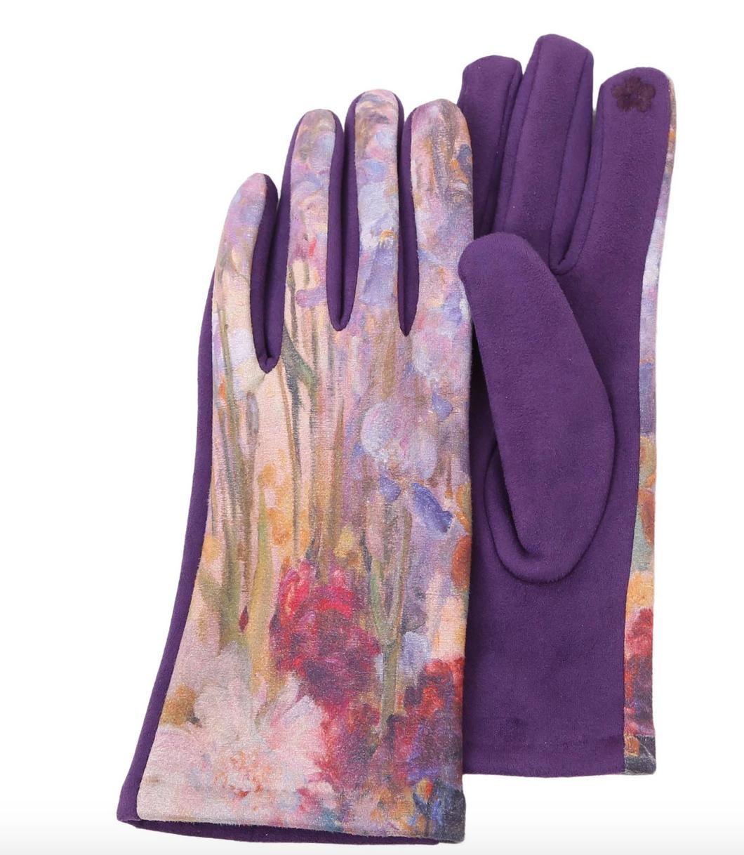 Rain Capers Gloves - Purple/Tiffany Peonies & Iris
